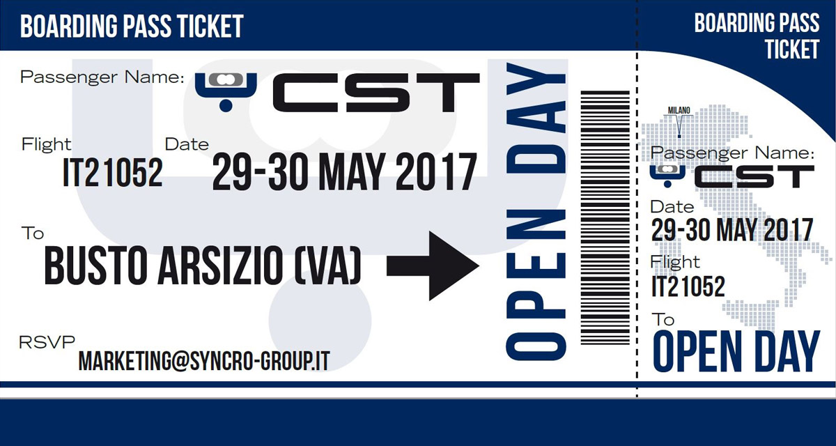 OPEN DAY CST - MAY 29/30, 2017